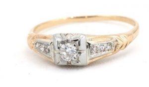 Illusion setting 1940w engagement ring