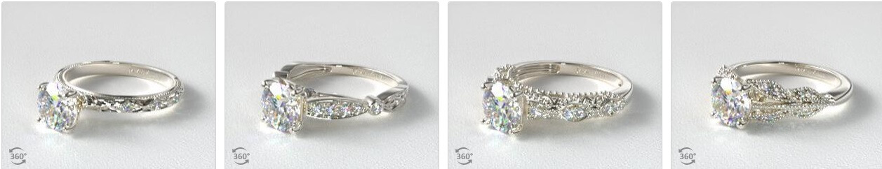 Victorian engagement rings collection