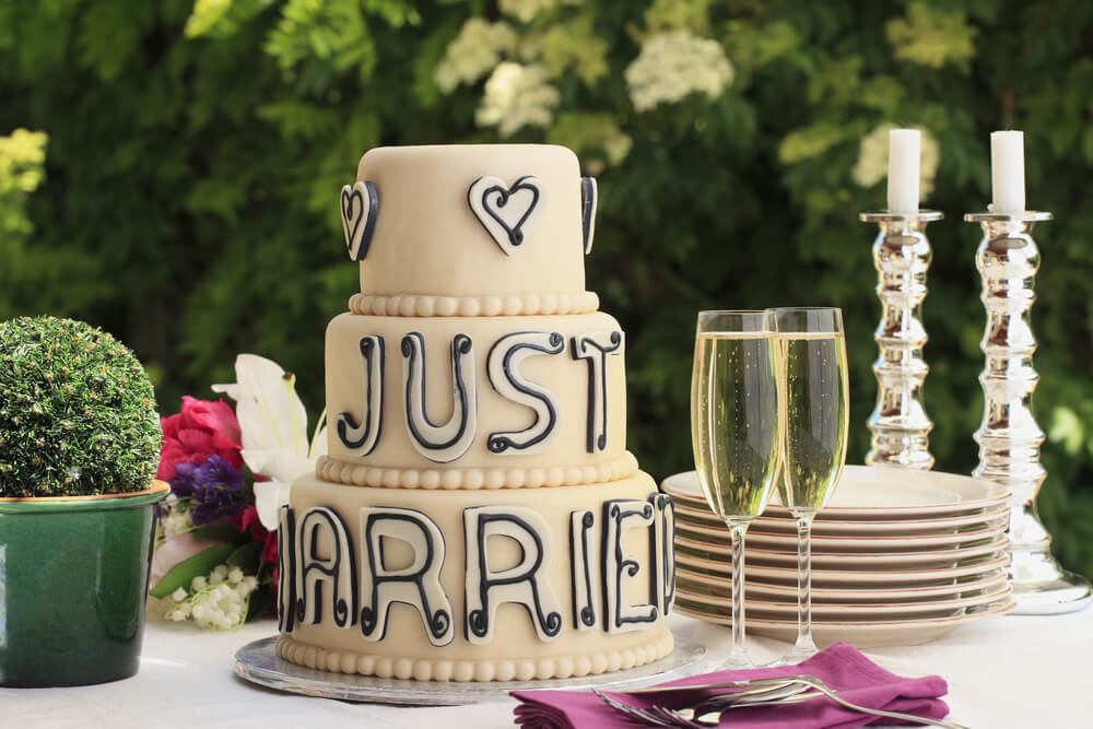 Just married cake