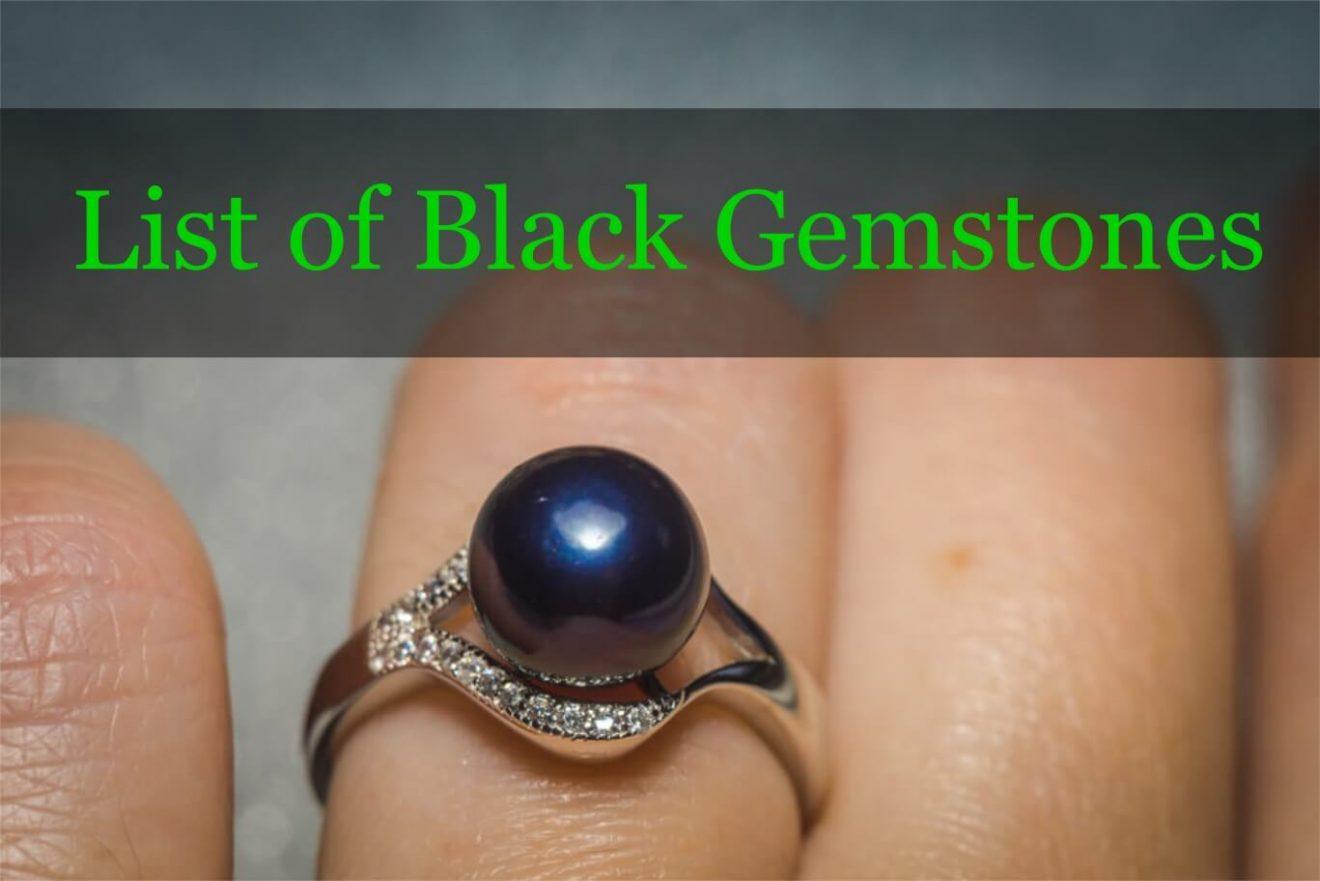 Black gemstone list