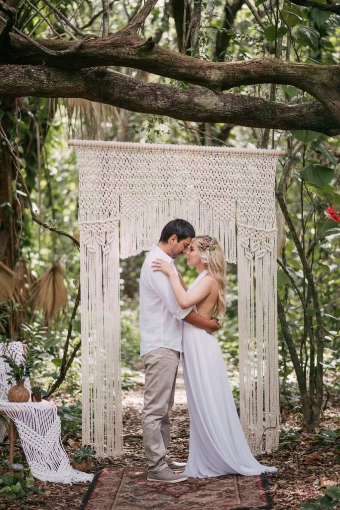 Macrame wedding arches