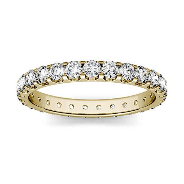 Moissanite eternity ring