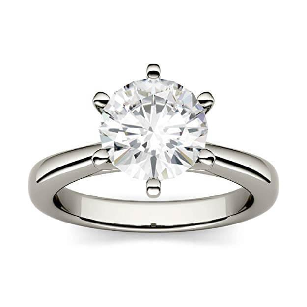 Moissanite ring looks like a diamond ring