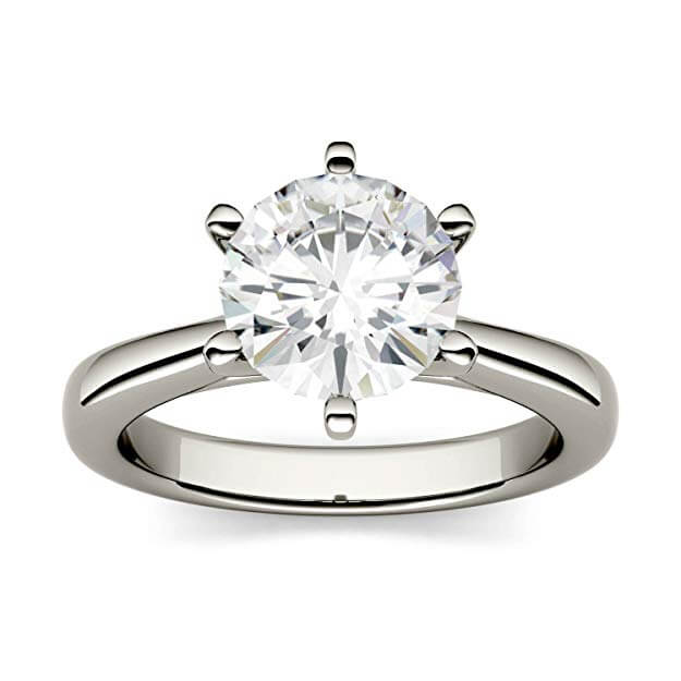Moissanite ring looks like a diamond ring