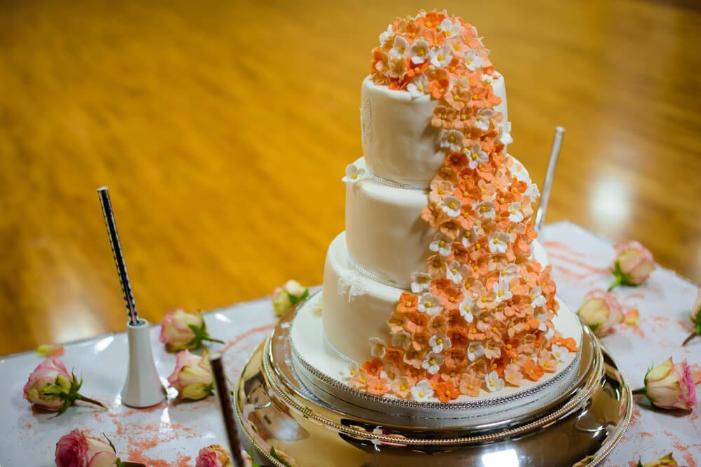 Orange floral cake