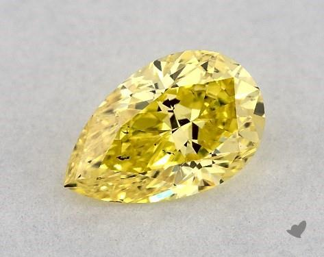 Pear shape yellow diamond