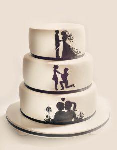Picture wedding cake