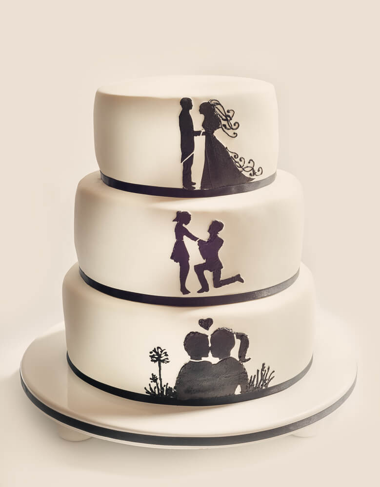 Picture wedding cake