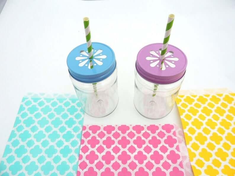 Plastic mason jar favors