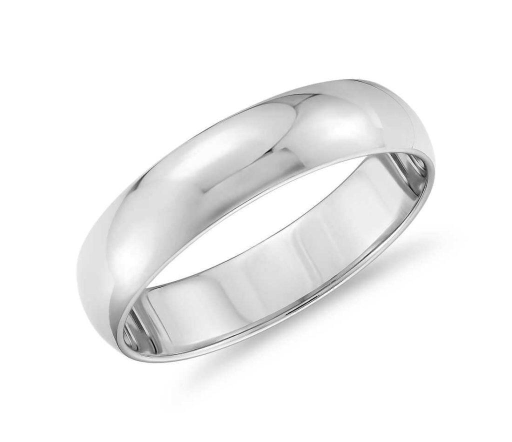 platinum ring with no patina