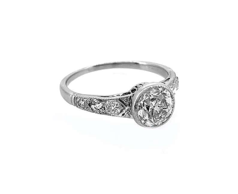 Edwardian ring with platinum band
