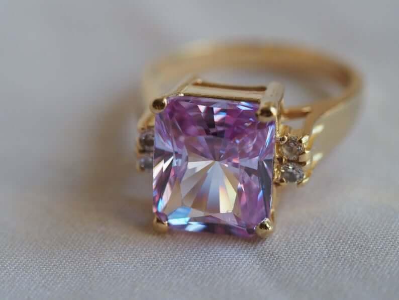 Purple topaz ring
