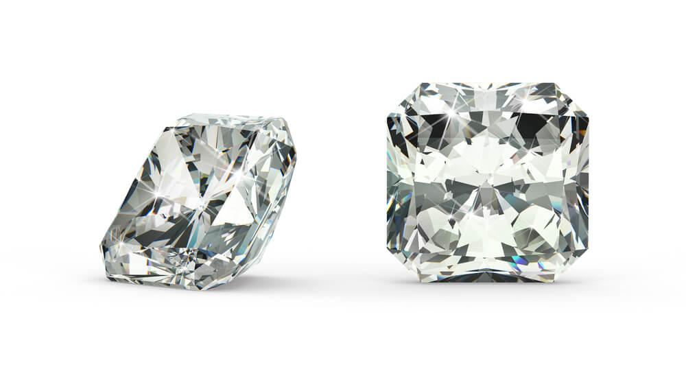 radiant cut diamond closeup
