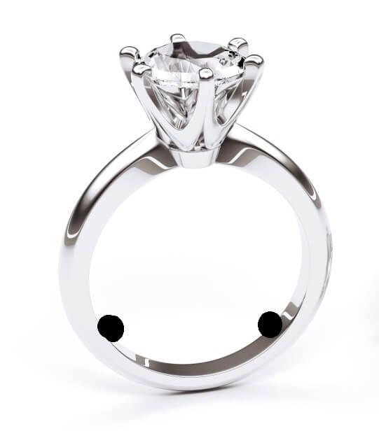 Ring resizing beads to stop spinning