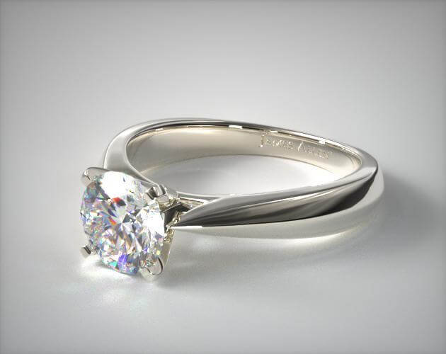 solitaire engagement ring white gold