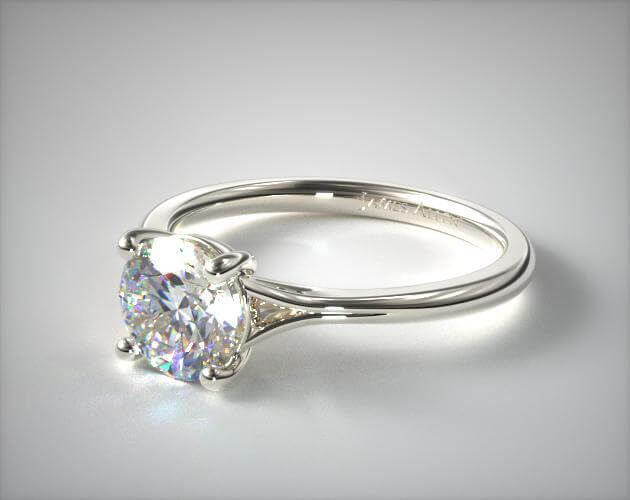 solitaire ring setting with thin band