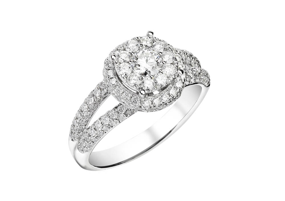 What is split shank engagement ring?