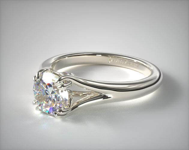 Split shank smooth ring