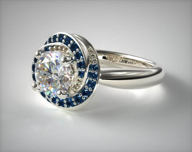 swirl-cluster Edwardian engagement ring