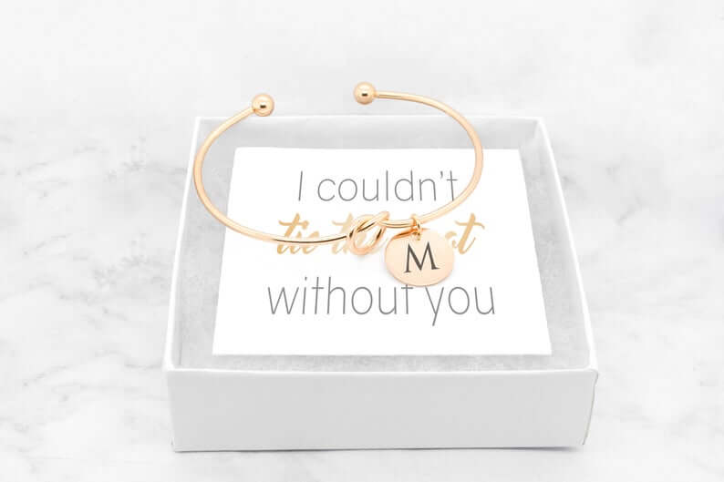 Bracelet as bridesmaids gift
