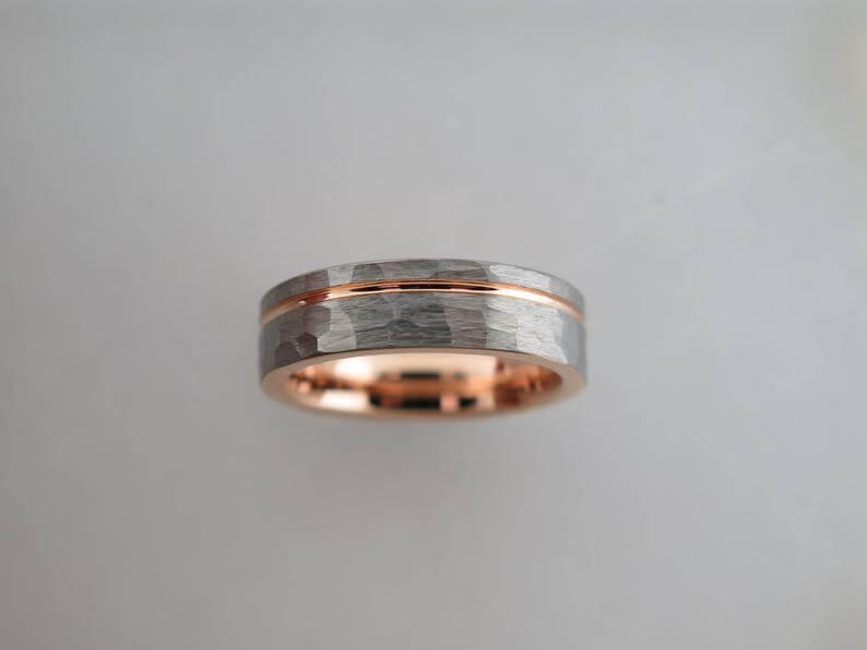Men's tungsten carbie ring