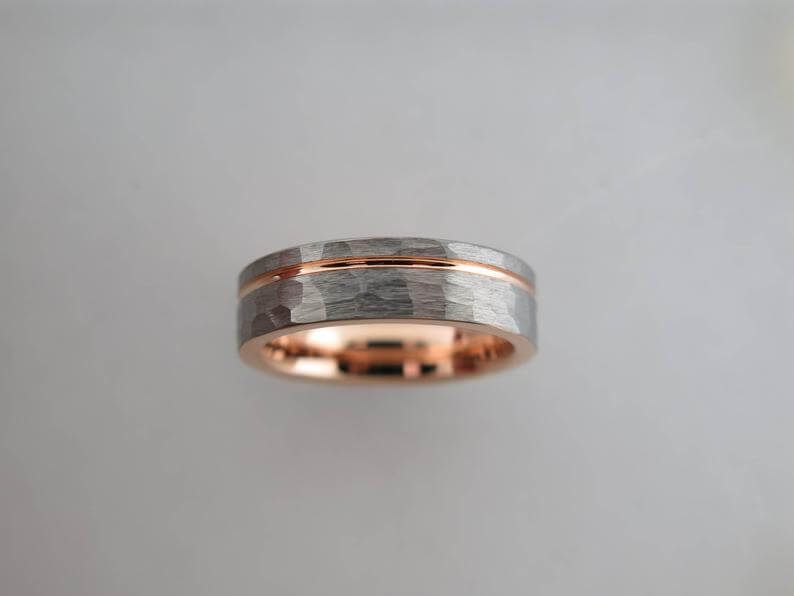 Men's tungsten carbie ring