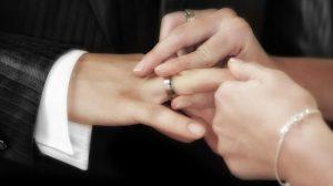 Man wearing tungsten carbide wedding ring