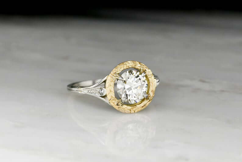 Diamond two-toned ring