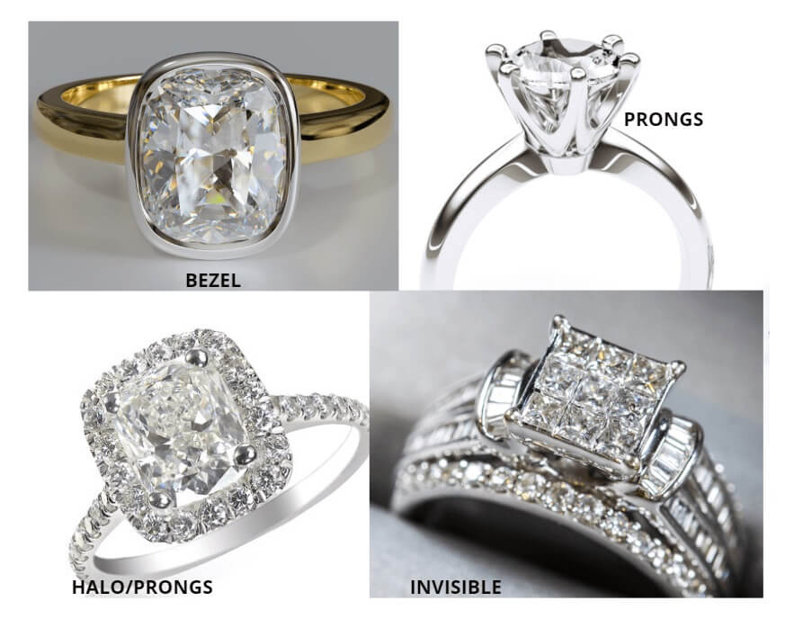 Types of engagement ring setting