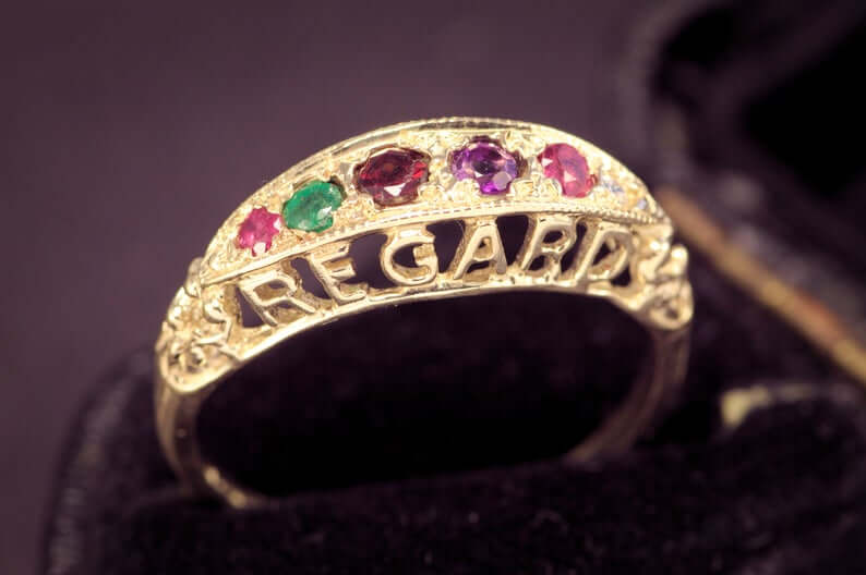 Victorian antique REGARD ring