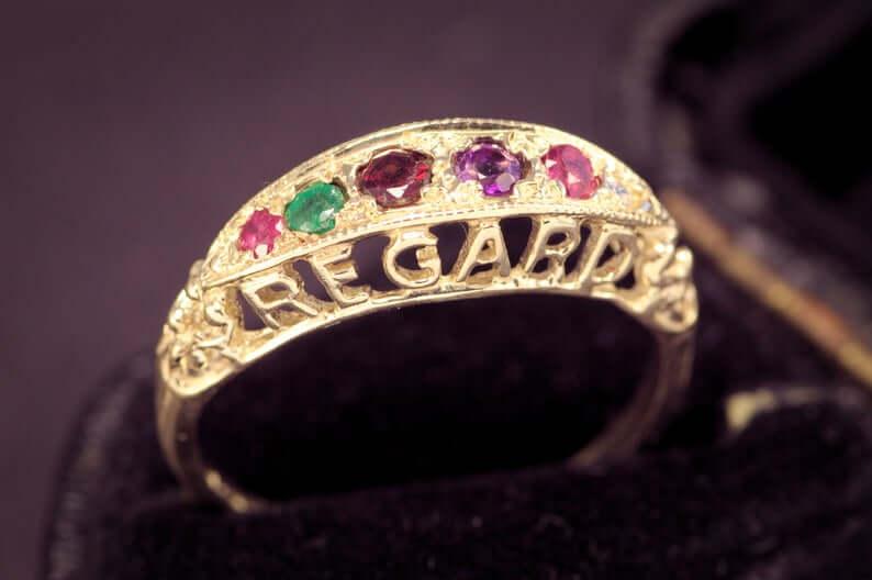 Victorian antique REGARD ring