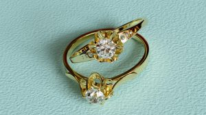 Victorian engagement ring closeup explained