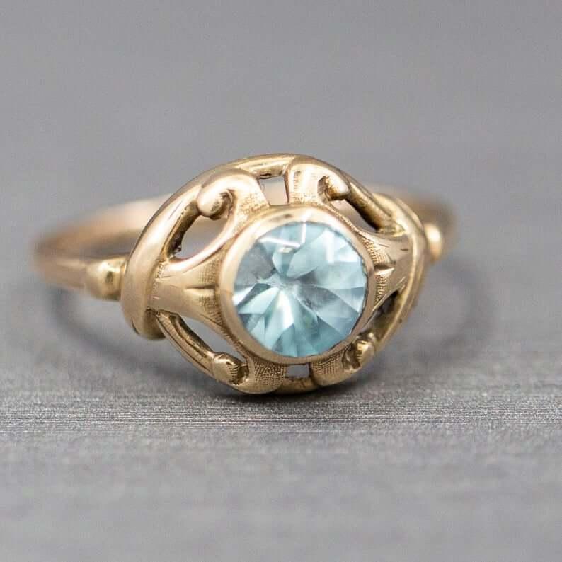 Victorian zircon ring