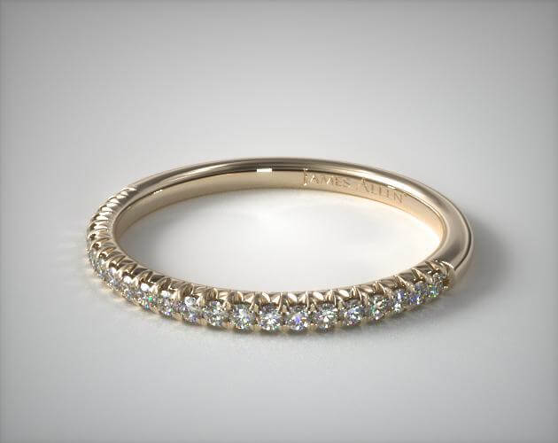 Pave matching wedding band