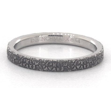 White gold cobblestone ring