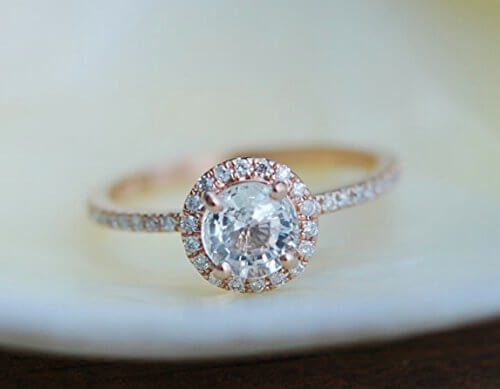 White sapphire ring that looks like diamond ring