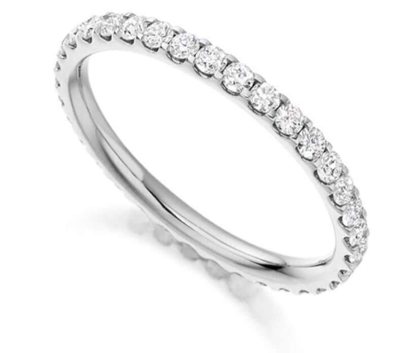 white sapphire eternity ring