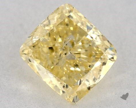 Cushion cut diamond yellow diamond