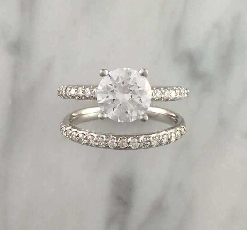 Zircon bridal set