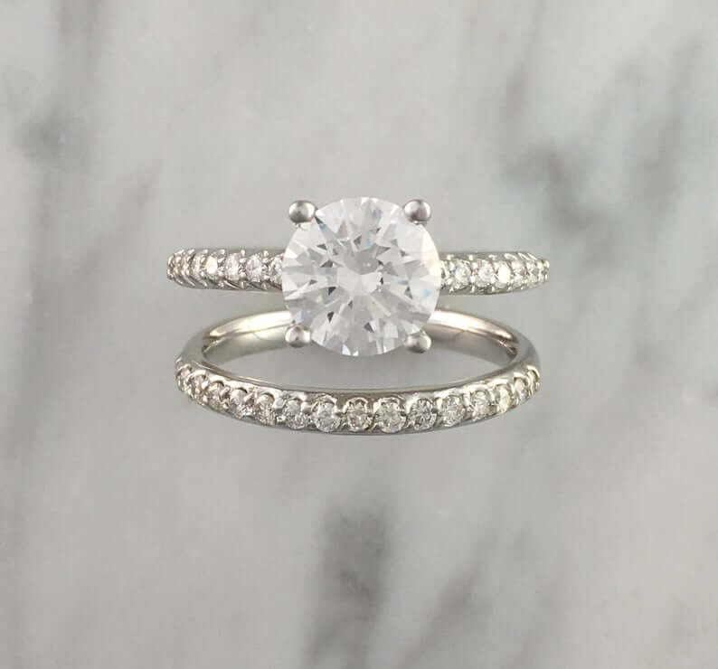 Zircon bridal set