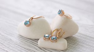 Blue zircon Jewelry set
