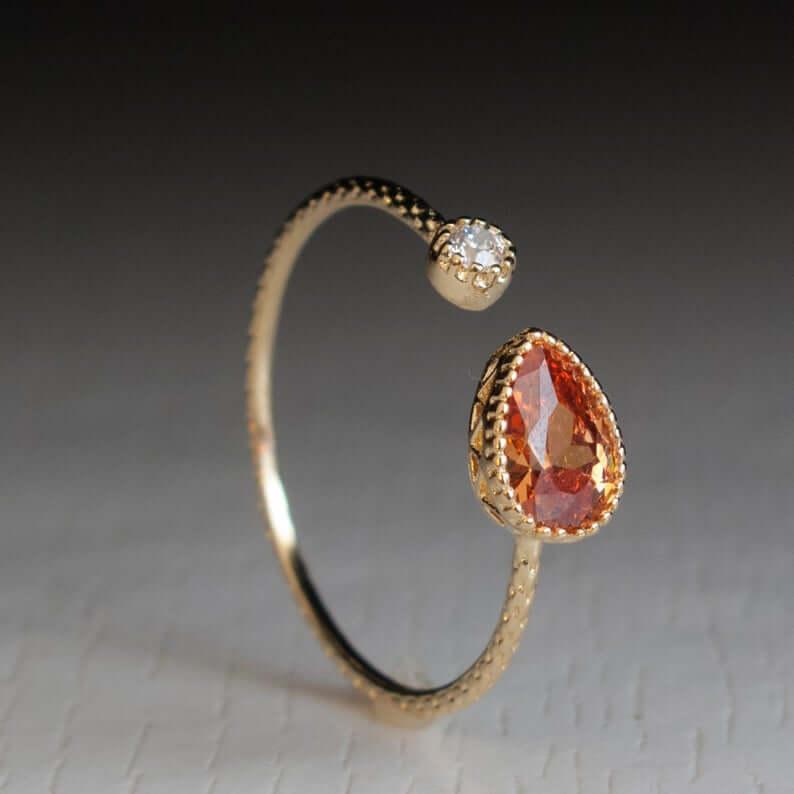 zircon and topaz ring