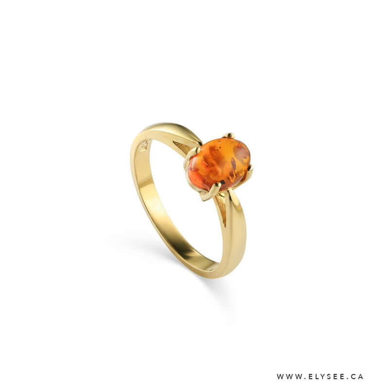Amber engagement ring