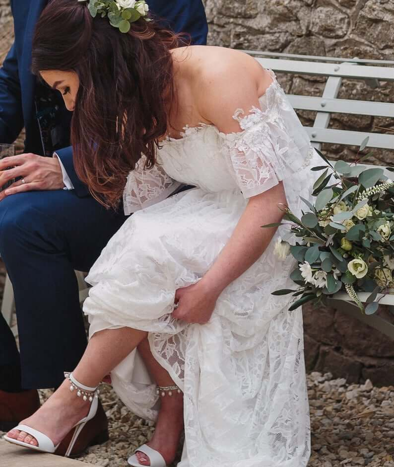 Anklets for brides with shoes