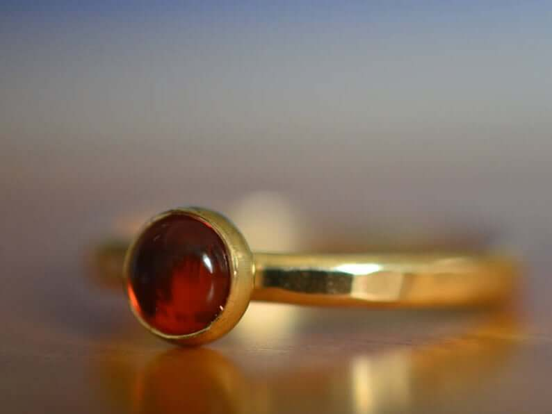 Baltic amber engagement ring