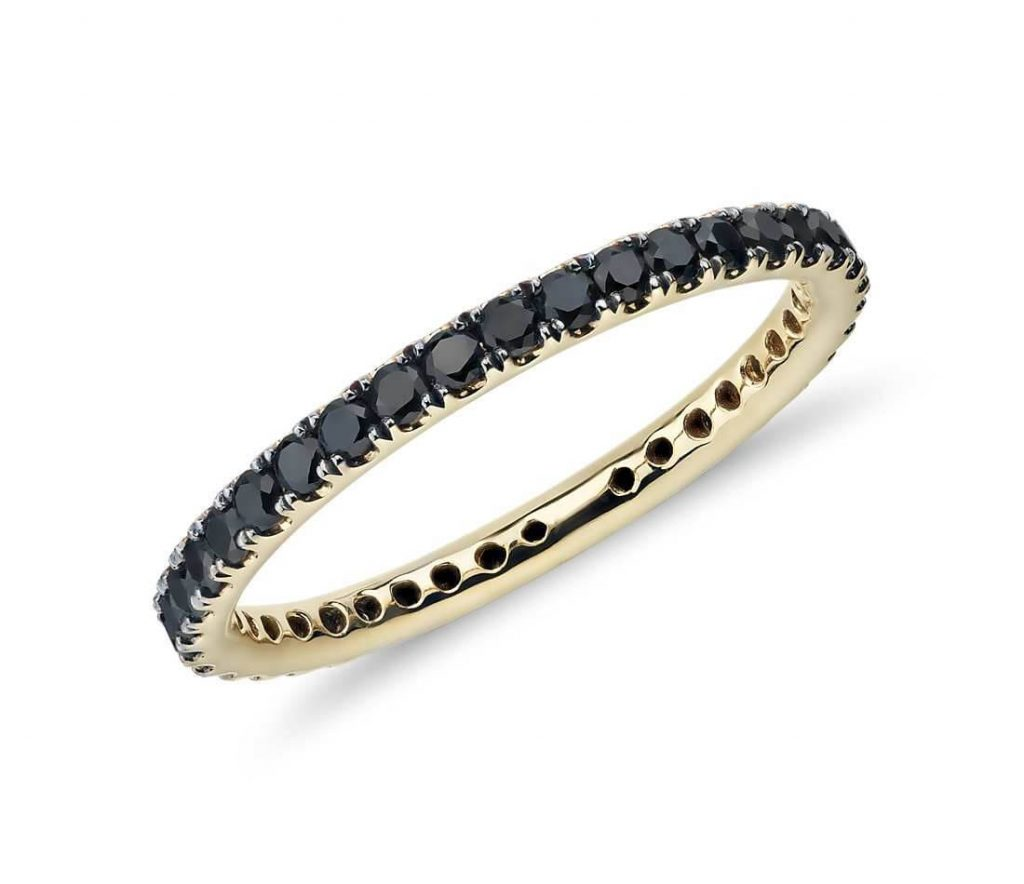 Black diamond eternity ring