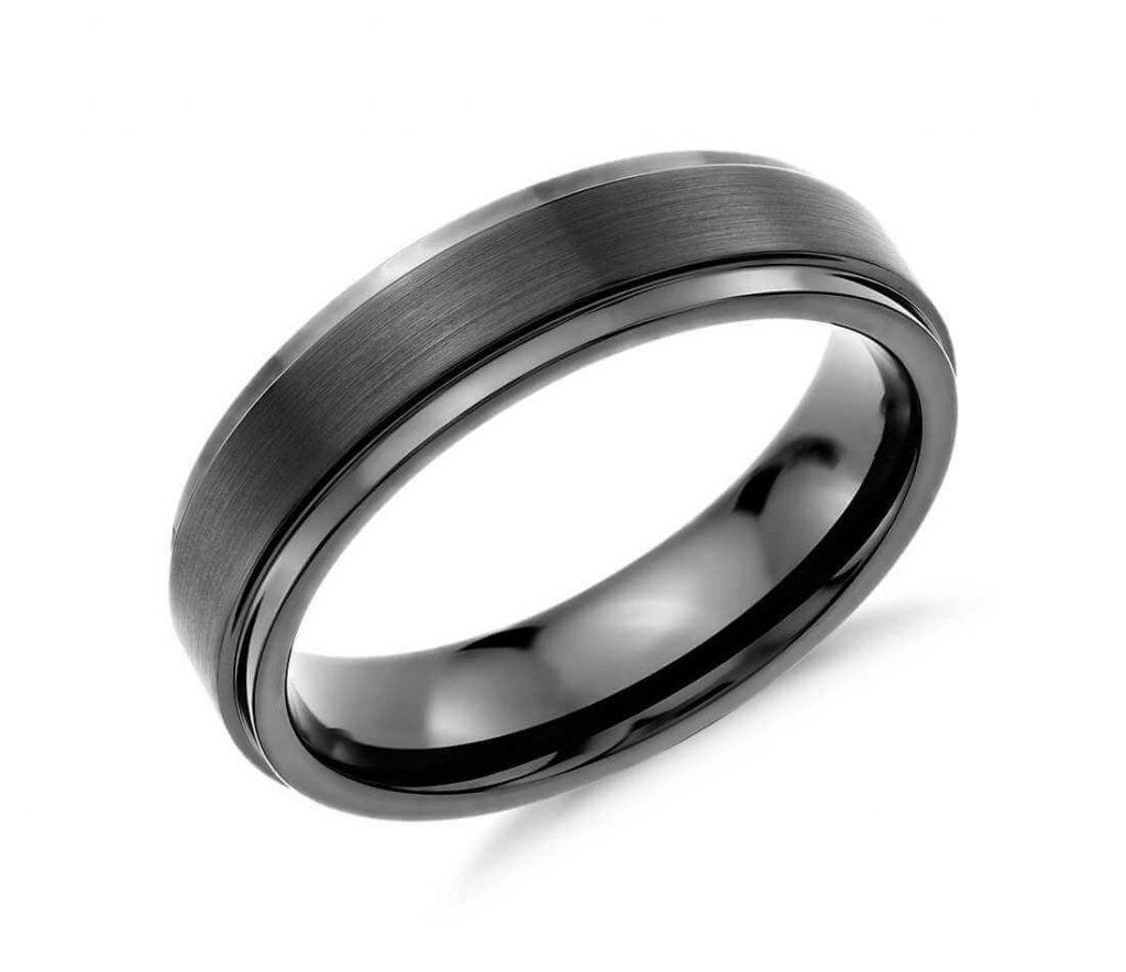 Black tungsten carbide ring