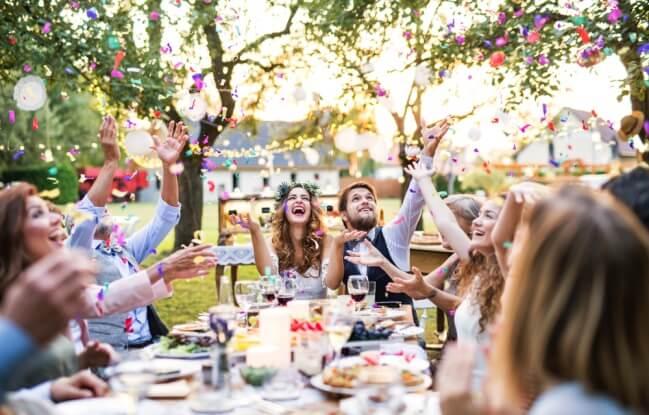 Breakfast wedding reception