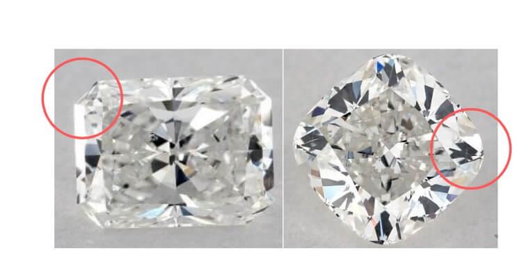 Cushion vs radiant shape diamond