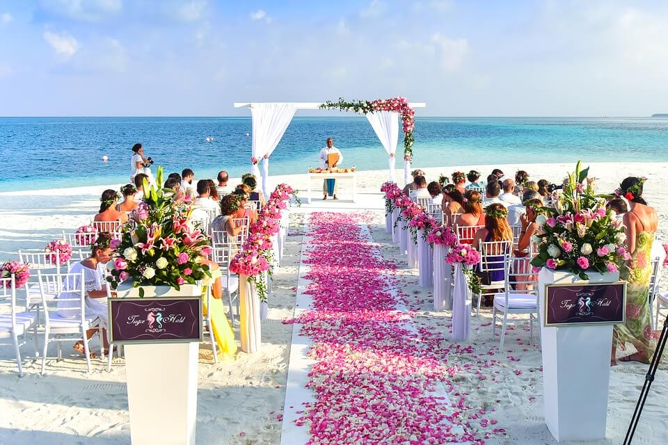 Wedding at a beach